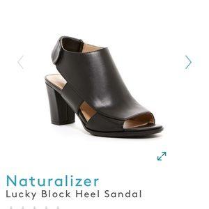 Naturalizer Lucky block heel sandal, size 8